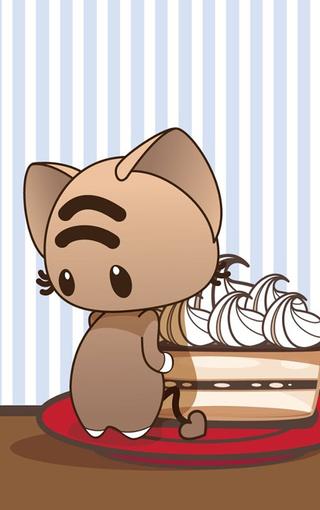 可爱卡通小猫iphone4s手机壁纸