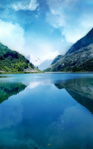 风景壁纸 自然风景壁纸 深蓝色的自然美景手机壁纸   zol手机壁纸有