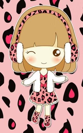 q版可爱女孩动漫iphone