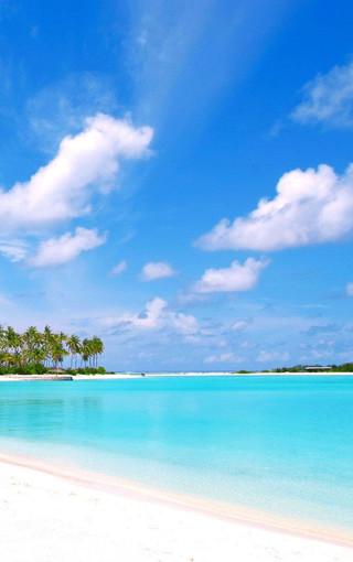 清新蓝色海岸高清风景手机壁纸