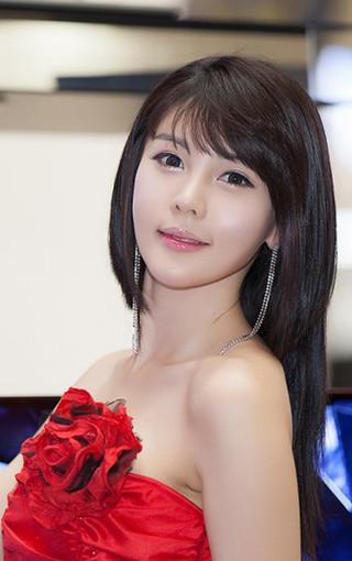 美女壁纸 清纯美女壁纸 韩国美女车模李智友手机壁纸