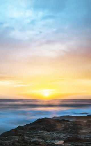 海上日出手机壁纸大图