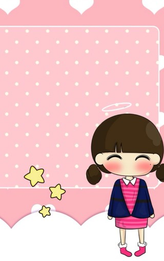 可爱大头娃娃手机壁纸