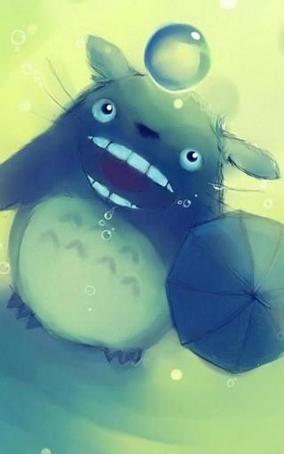 可爱龙猫插画手机壁纸