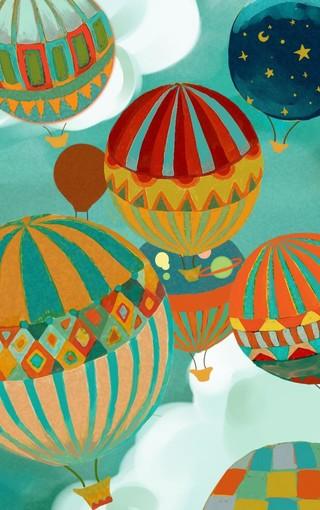 创意壁纸 彩色热气球手机壁纸
