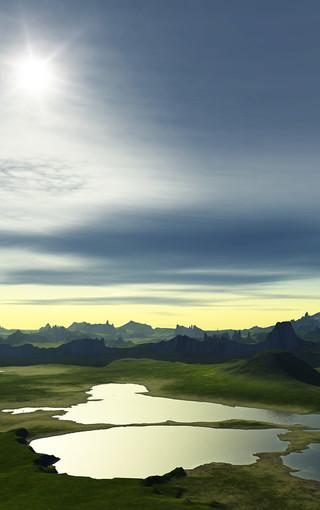 大河高清风景手机壁纸