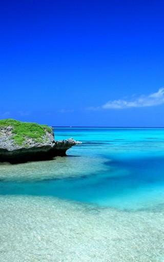 海岸蓝色美景手机壁纸