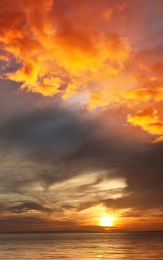 风景壁纸 自然风景壁纸 日落晚霞大图手机壁纸
