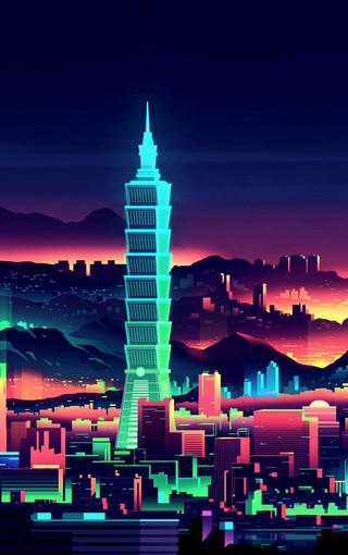 台湾101大厦经典壁纸图片
