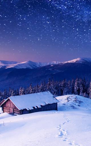 冬季唯美的雪景手机壁纸