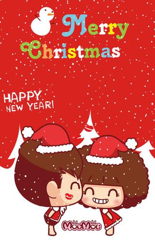 动漫圣诞节可爱壁纸-zol手机壁纸