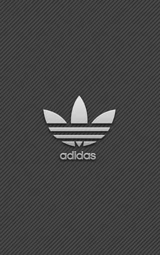 iphone 5s阿迪达斯创意logo手机壁纸图片