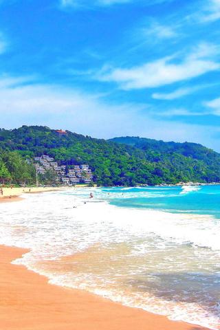 蓝色海岸高清风景手机壁纸