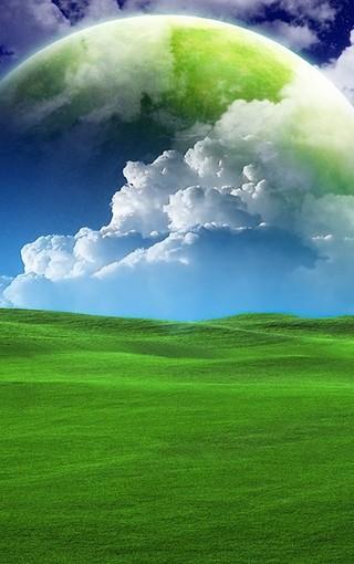 绿色安卓风景手机壁纸