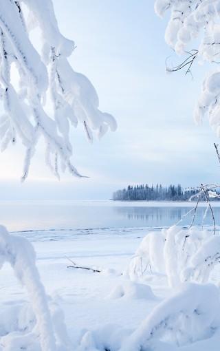 唯美雪景高清手机壁纸
