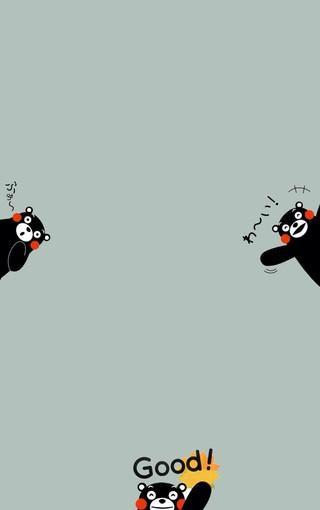 呆萌可爱熊本熊手机壁纸