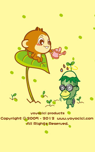 嘻哈猴卡通手機壁紙