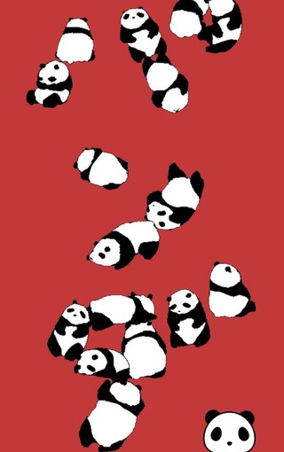 可爱熊猫手机壁纸