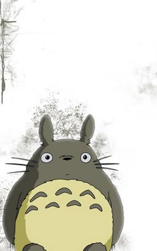 龙猫简笔画 卡通