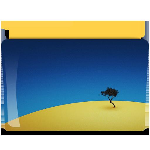 软件下载 素材库 鼠标指针 风景主题文件夹png图标 应用截图
