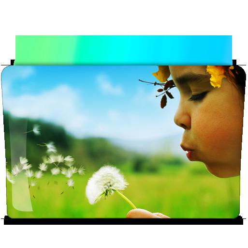 风景主题文件夹png图标