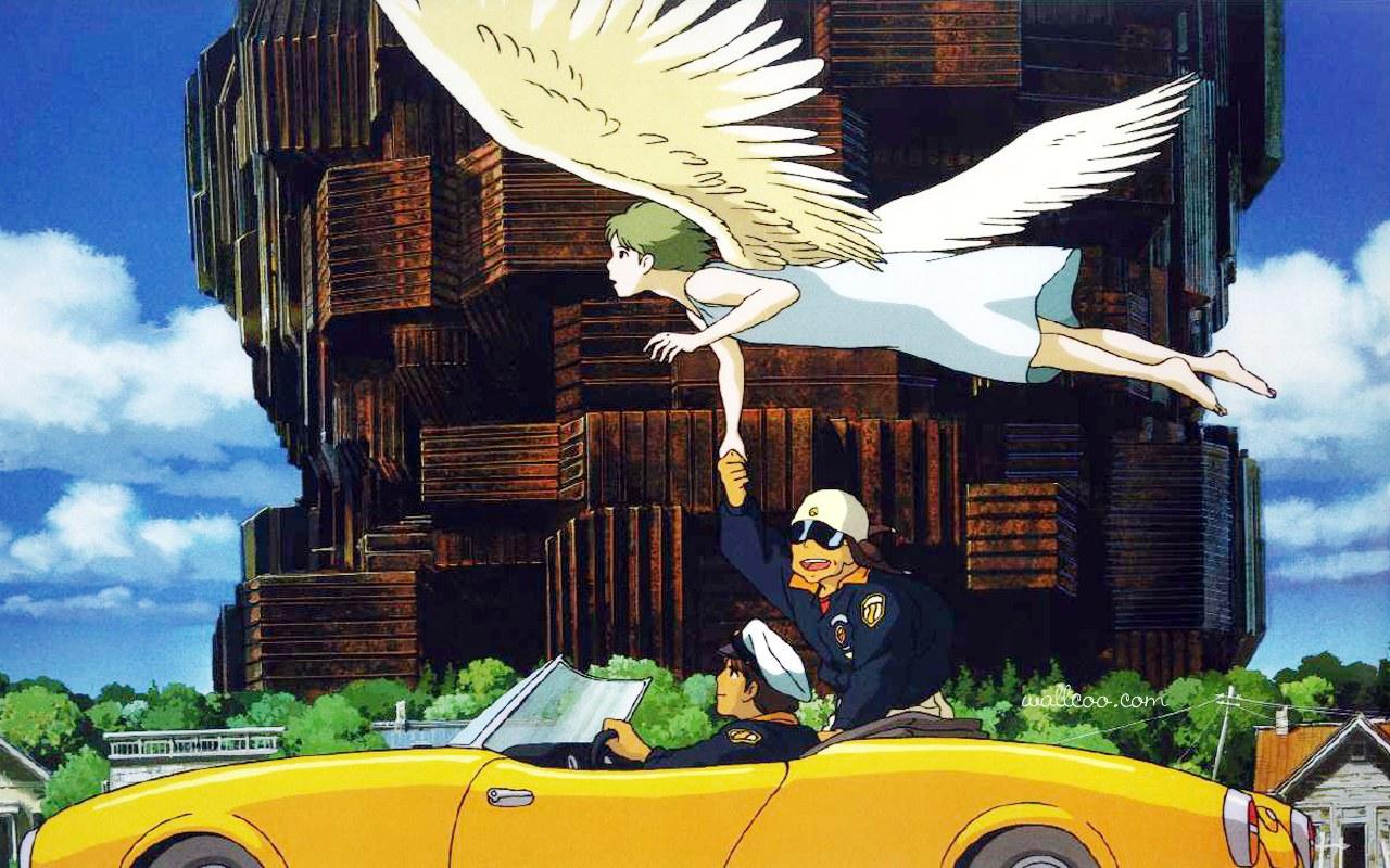 软件下载 素材库 图片素材 宫崎骏经典动画作品宽屏壁纸 应用截图