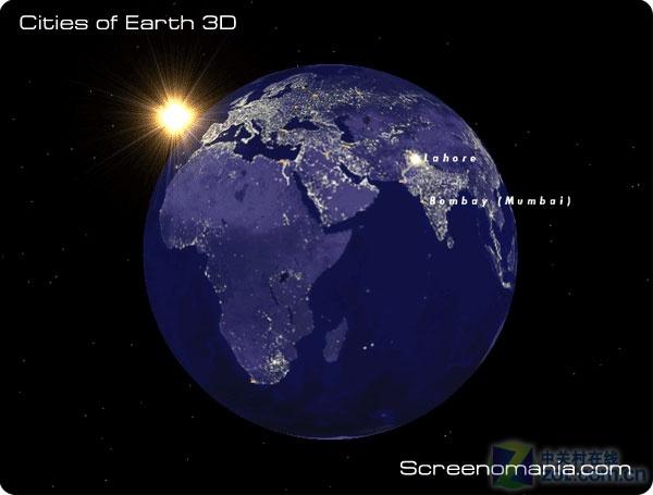 软件下载 素材天下 电脑屏保 cities of earth 屏幕保护 (地球) 应用