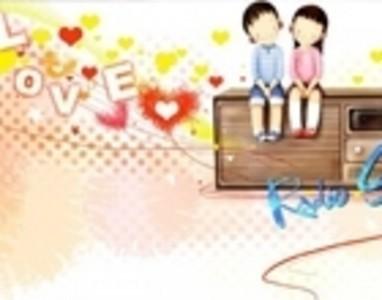 webjong插画 温馨甜蜜小情侣屏保