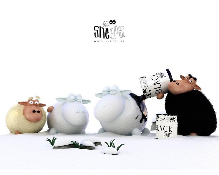 可爱搞笑的3d卡通羊壁纸软件截图-zol