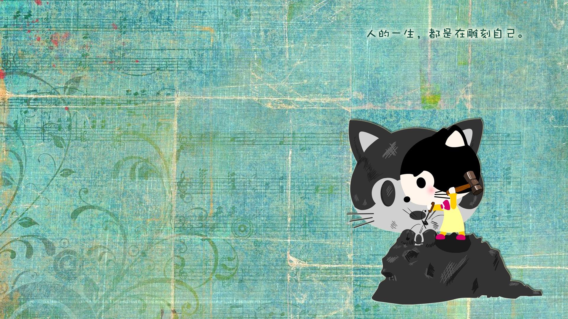 猫咪宝贝 卡通猫壁纸