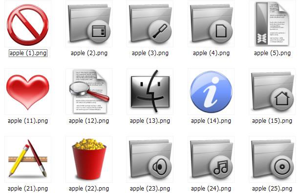 软件下载 素材库 桌面图标 苹果风格系统桌面图标 应用截图