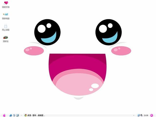 可爱笑脸电脑桌面主题