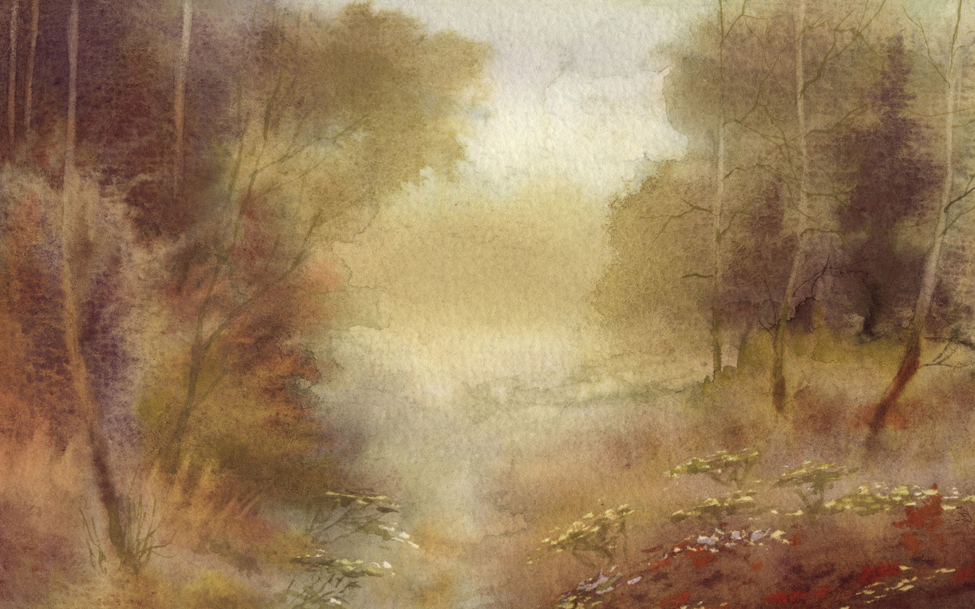 水彩风景壁纸