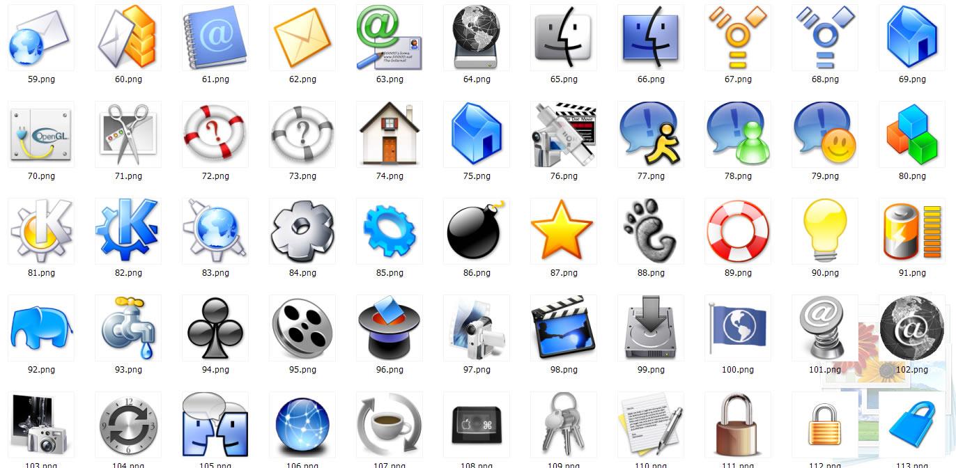软件下载 素材库 鼠标指针 mac图标之系统篇 应用截图