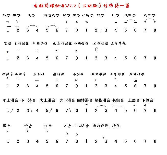 计算机乐谱虫儿飞-电脑简谱助手 二胡版 截图