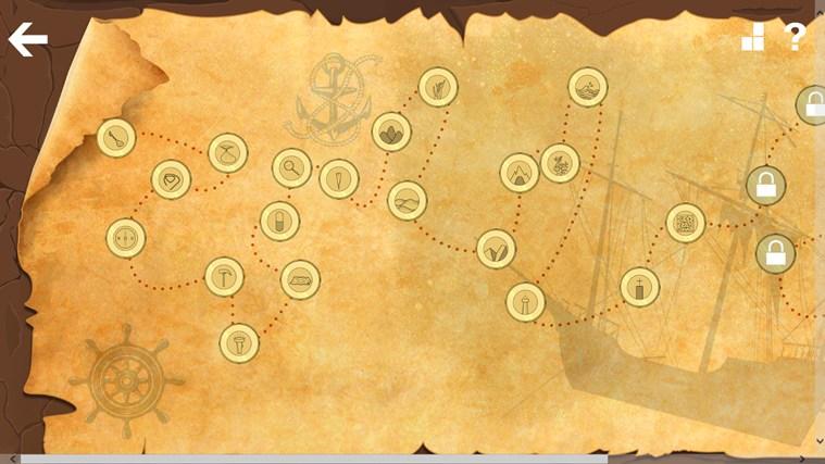 海底 卡通 藏宝图