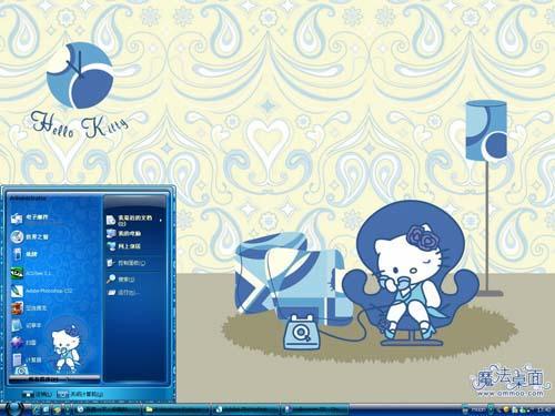 蓝色Kitty猫主题