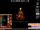 灯火阑珊圣诞树电脑桌面主题