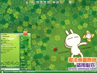 美女蔡妍桌面主题与兔斯基电脑桌面主题哪个好用?