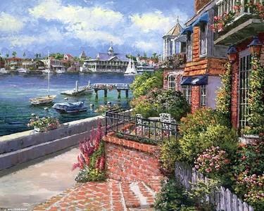 世界文化遗产的古老小镇,美丽如画的奥地利湖区古村,欧美小镇油画壁纸
