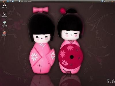 桌面主题 xp主题 日本可爱木偶电脑桌面主题免费下载