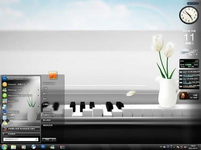 黑白琴键电脑桌面主题,钢琴是源自西洋古典音乐中的一种键盘乐器,普遍
