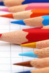 非主流五彩缤纷彩色铅笔壁纸