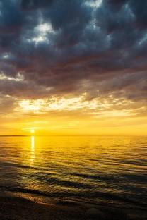 黄昏夕阳美景图片高清壁纸