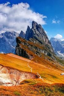 陡峭山峰自然风景图片壁纸