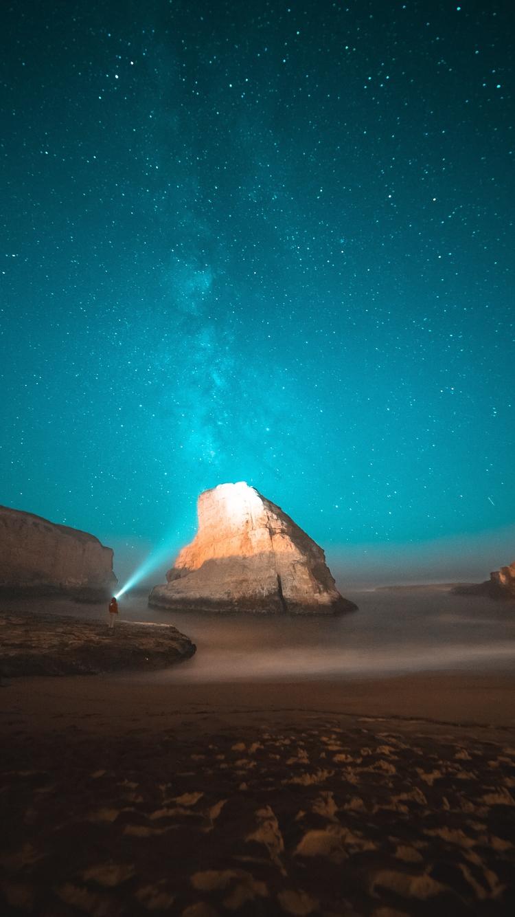 唯美星空夜景高情手机壁纸2