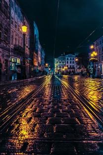 唯美街头夜景背景图片壁纸