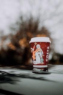 优雅咖啡纸杯图片壁纸