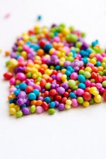 彩色糖豆背景图片手机壁纸
